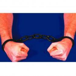 Fantasia Algemas de Prisioneiro Preta