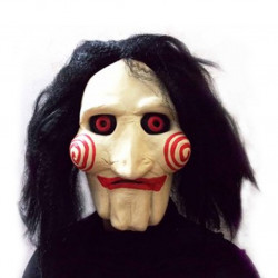 Máscara Adulto Billy de Jogos Mortais Saw Jigsaw Clássica