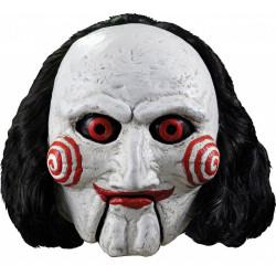 Máscara Adulto Billy de Jogos Mortais Saw Jigsaw Luxo