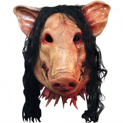 Máscara Adulto Billy de Jogos Mortais Saw Jigsaw Pig Porco