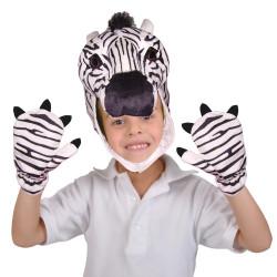Máscara e Luvas de  Zebra