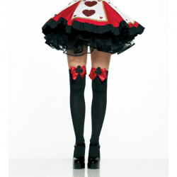 Meia calça Adulto Preta e Vermelha