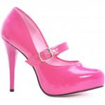 Sapato Alto Adulto Babydoll Rosa