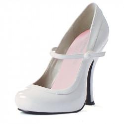 Sapato Alto Adulto Feminino Babydoll Branco