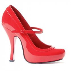 Sapato Alto Adulto Feminino Babydoll Vermelho
