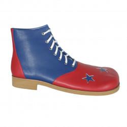 Sapato de Palhaço Azul e Vermelho Estrela