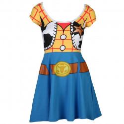 Vestido Fantasia Woody Toy Story Adolescente Luxo