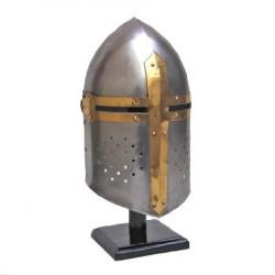 Capacete Medieval Cruzadas em Aço