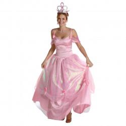 Fantasia Adulto Feminino Princesa Cor de Rosa Pink Luxo