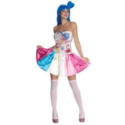 Fantasia Adulto Feminino Sweet As Candy California Girl Katy Perry