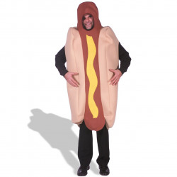 Fantasia Adulto Hot Dog Cachorro Quente Luxo