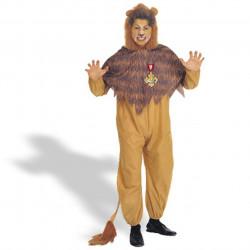 Fantasia Adulto Leão Covarde Mágico de Oz