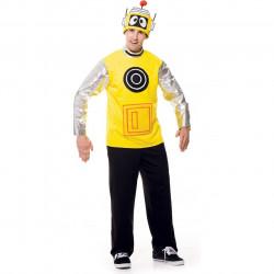 Fantasia Adulto Plex o Robô Amarelo Yo Gabba Gabba