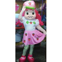 Fantasia Mascote Adulto Moranguinho Luxo