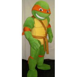 Fantasia Mascote Michelangelo Tartaruga Ninja