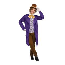 Fantasia Willy Wonka Adulto Luxo