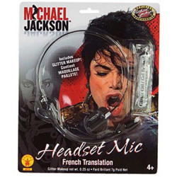 Head Set Microfone Michael Jackson