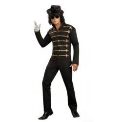 Jaqueta Michael Jackson Adulto Preta Clássica