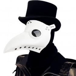 Máscara Doutor da Peste Negra Steampunk Adulto Branca