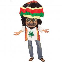 Mascote Rastafari Paz e Amor