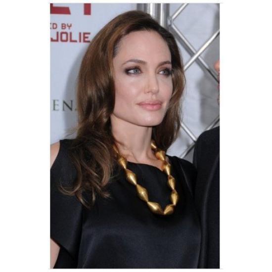 Peruca Angelina Jolie Celebridade Morena Cabelo Humano Remy
