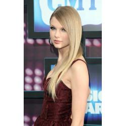 Peruca Celebridade Taylor Swift Loira Cabelo Humano Remy