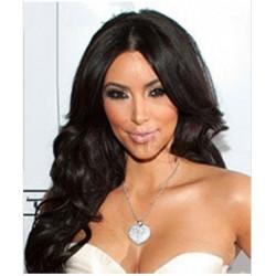 Peruca Kim Kardashian Celebridade Morena Cabelo Humano Remy