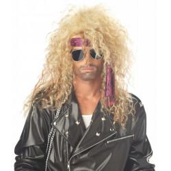 Peruca Rockstsar Loira anos 80 Masculina