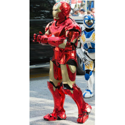 Robô Fantasia Homem de Ferro Cromado Adulto