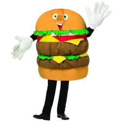 Mascote Hambúrguer Adulto