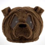 Cabeça Capacete/Máscara Bulldog Cachorro Pelúcia Luxo