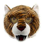 Cabeça Capacete Máscara Tigre Pelúcia Luxo