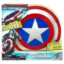 Capitão América Escudo Eletrônico Infantil Lançador de Dardos