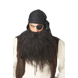Barba e Bigode Preta Adulto