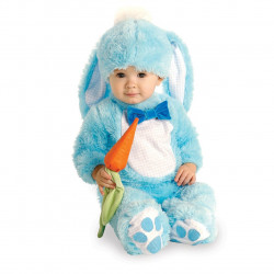 Fantasia Bebê Coelho Azul Luxo