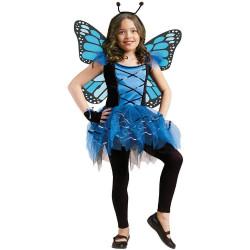Fantasia Borboleta Azul Infantil Bailarina Clássica