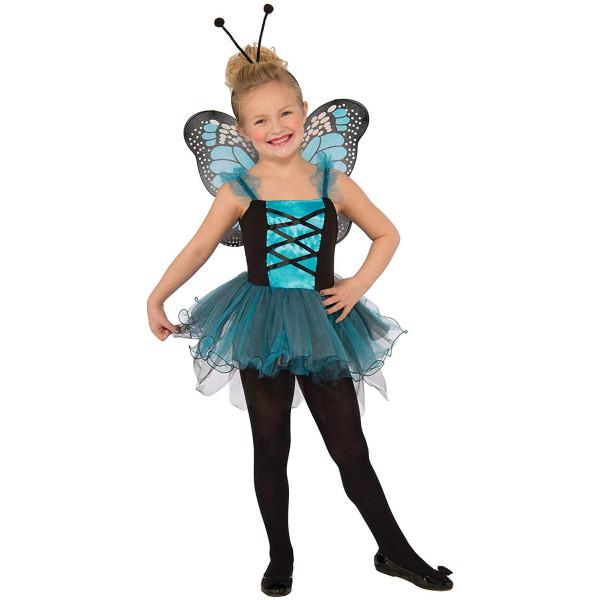 Fantasia Borboleta Azul Infantil Bailarina Luxo