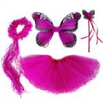 Fantasia Borboleta Pink Infantil Adorável