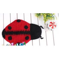 Fantasia Crochet Artesanal Joaninha Luxo