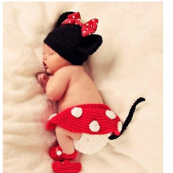 Fantasia Crochet Artesanal Minnie Mouse