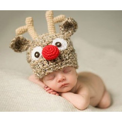 Fantasia Crochet Artesanal Rena do Papai Noel