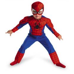 Fantasia Homem Aranha com Músculos Infantil Luxo