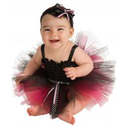 Fantasia Infantil Adorável Bailarina Rosa e Preto Luxo