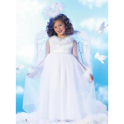 Fantasia Infantil Anjo Celeste Branco Luxo