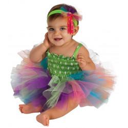 Fantasia Infantil Arco Iris Bailarina Luxo