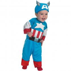 Fantasia Infantil Bebê Capitão América