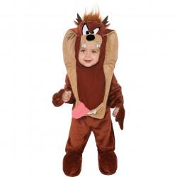 Fantasia Infantil Bebê do Taz Diabo da Tasmânia Looney Tunes Luxo