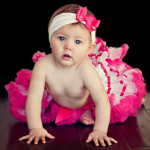 Fantasia Infantil Bebê Tutu Bailarina Branco e Pink