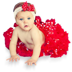 Fantasia Infantil Bebê Tutu Bailarina Vermelha