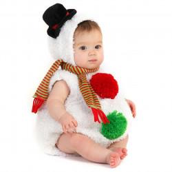 Fantasia Infantil Boneco de Neve Snow Man do Natal Clássica